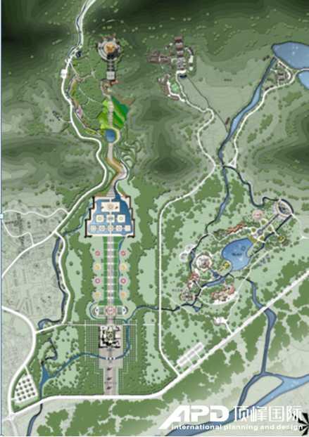 地藏菩萨大铜像景区规划总平面图
