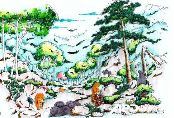 山地规划总平面手绘