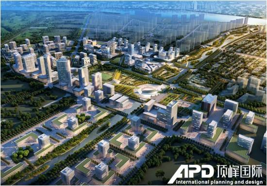 滨州市杨柳雪新区核心区鸟瞰