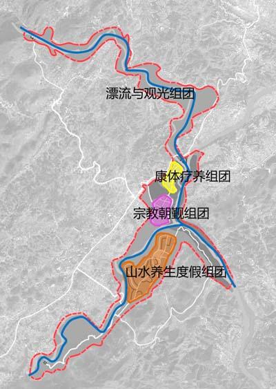峡谷旅游景区规划结构图