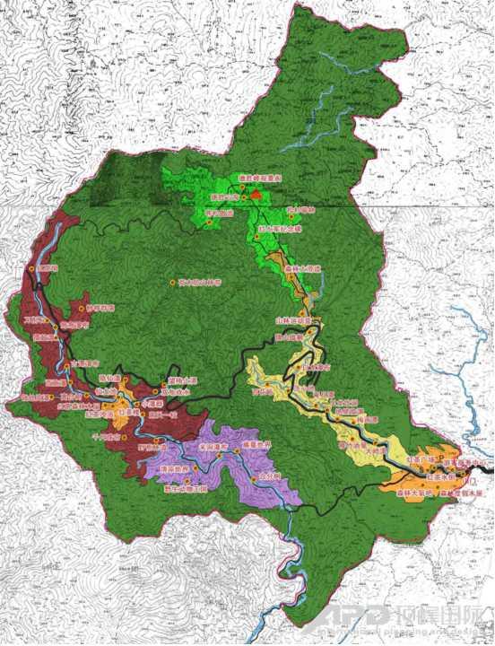 广西红茶沟国家森林公园总体规划及修建性详细规划图片