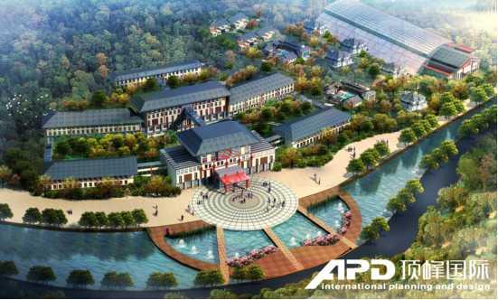 水上农家乐设计效果图-大连市东泉 绿洲里修建性详细规划