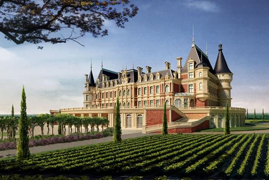 园林特点则是法式经典与中国西域文化